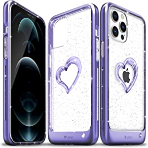 Vena vLove Glitter Clear Case Compatible with Apple iPhone 12 Pro Max (6.7