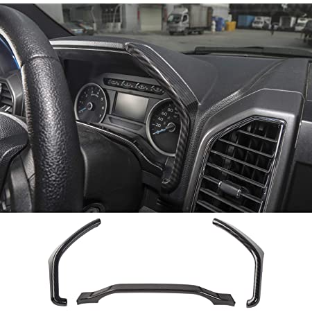 RT-TCZ Dashboard Instrument Trim Cover Dash Board ABS Interior Accessories Decoration Trim Cover for Ford Mustang 2009-2013 Soft Carbon Fiber