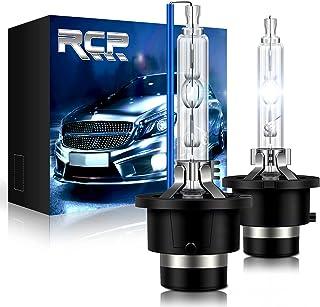 RCP - D2S8 - (A Pair) D2S/ D2R 8000K Xenon HID Replacement Bulb Ice Blue Metal Stents Base 12V Car Headlight Lamps Head Li...