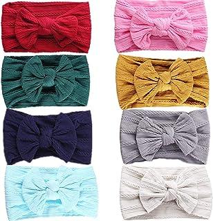 Monllack Baby M/ädchen Stirnband Neugeborenen Blumenstirnband Elastische Breite Spitze Haarband Haarschmuck Fotografie Requisiten
