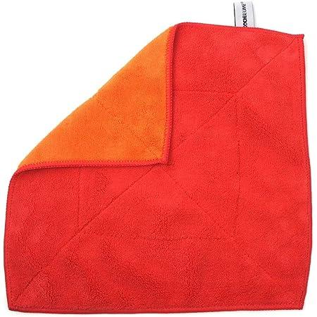 Kochblume Microfasertuch Putztuch 30 X 30 Cm 20101 Rot Orange 30 30 Cm Küche Haushalt