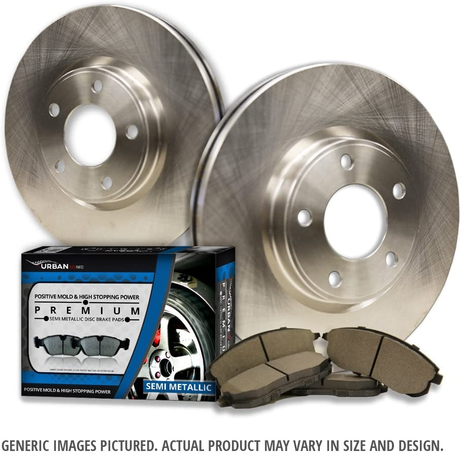 Nashville-Davidson Mall Rear Brake Kit - 2 OEM Rotors 4 + 2021 autumn and winter new Replacement Great-Life