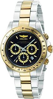 ساعة يد بحركة كوارتز للرجال من انفيكتا بعرض كرونوغراف وسوار من الستانلس - 9224