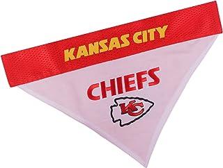 Pets First NFL DOG BANDANA - KANSAS CITY CHIEFS REVERSIBLE PET BANDANA. 2 Sided Sports Bandana with a PREMIUM Embroidery T...