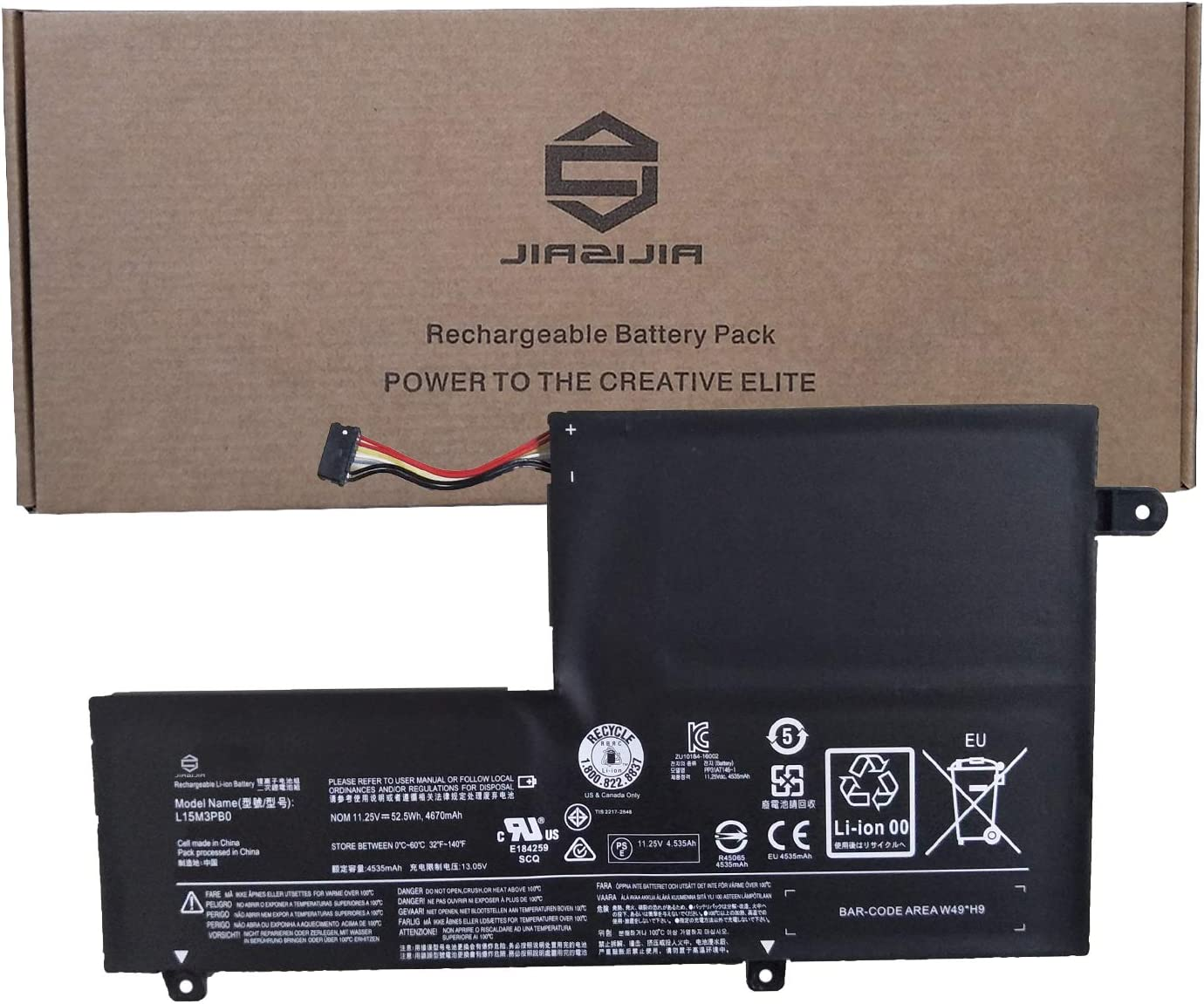 Max 50% OFF Genuine JIAZIJIA L15M3PB0 Type-C Laptop Battery Lenovo Replacement for F