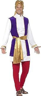 Smiffys-24703M Disfraz de príncipe árabe, con Chaqueta,