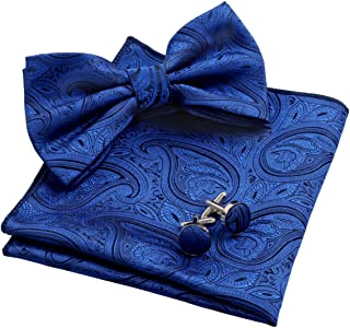 blue blazer and bow tie