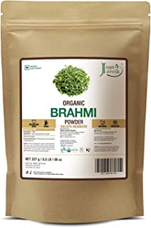 Just Jaivik 100% Organic Brahmi Powder Bacopa Monnieri- USDA Certified Organic, 227 GMS / 1/2 LB Pound / 08 Oz