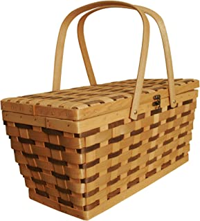Wald Imports Tuscana Woodchip Picnic Basket