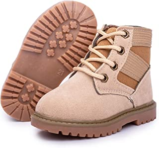 Amiley Toddler Little Boy Girl Kids Army Snow Boots Lace Up Sneaker Ankle Bootie