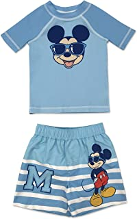 Dreamwave Infant Boy Authentic Character 2 Piece Rash Guard and Swim Trunk Set UPF 50