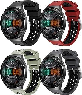 Yaspark Armband för Huawei Watch GT 2e, silikon klockarmband sport andas ersättningsarmband tvåfärgad design armband för H...