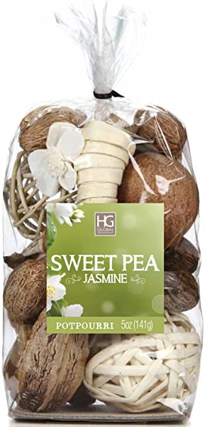 Hosley Sweet Pea Jasmine Chunky Potpourri 5 Oz Ideal For Party Favor Weddings Spa Reiki Meditation Bathroom Settings O4