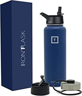 Iron Flask Sports Water Bottle - 18oz, 22oz, 32oz, 40oz, or 64oz, 3 Lids, Vacuum Insulated Stainless Steel, Hot Cold, Modern Double Walled, Simple Thermo Mug, Hydro Metal Canteen