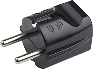 Meister Schutzkontakt-Stecker - Kunststoff - schwarz - 250 V - 16 A - Maximaler Kabelquerschnitt 2,5 mm² - IP20 Innenbereich - Gerade Einführung / Schuko-Stecker mit Zugentlastung / 7421020