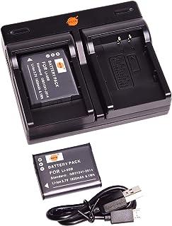 DSTE アクセサリーキット LI-50B 互換 カメラ バッテリー 2個 + スリムなデュアル USB 充電器キット対応機種 Olympus XZ-1 SZ-11 SZ-12 SZ-10 SZ-20 TG-810 TG-820