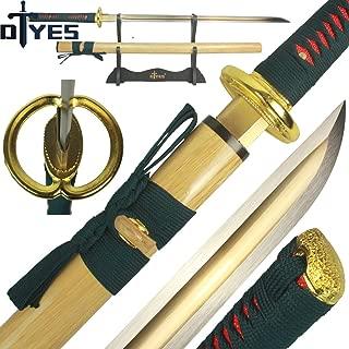 Handmade Japanese Samurai Katana Sword/Ninja Sword/Shirasaya, Functional, Hand Forged, 1060/1095/T10 Carbon Steel/Damascus Steel, Heat Tempered/Clay Tempered, Full Tang, Sharp, Wooden Scabbard