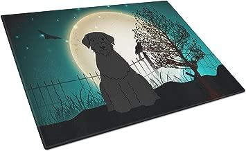 Caroline's Treasures BB2256LCB Halloween Scary Giant Schnauzer Glass Cutting Board, Large, Multicolor