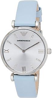 Emporio Armani Womens Quartz Watch, Chronograph Display and Leather Strap AR1928