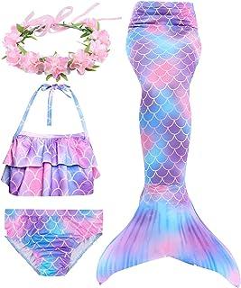 Hifunbay Cola de Sirena niña para Nadar Incluido Traje de