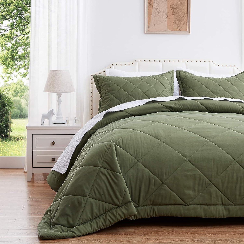 SunStyle Home Sacramento Mall King Size Gifts Quilt Set Green Comforter Se Lightweight