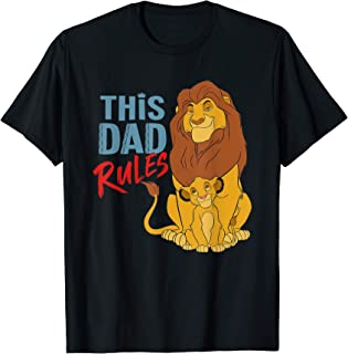 Disney The Lion King Simba and Mufasa This Dad Rules T-Shirt