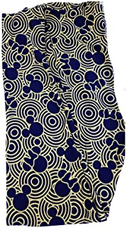 Lularoe Tall Curvy TC Disney Mickey and Minnie Mouse Blue Hypnotic Circles Adult Leggings fits 12-18