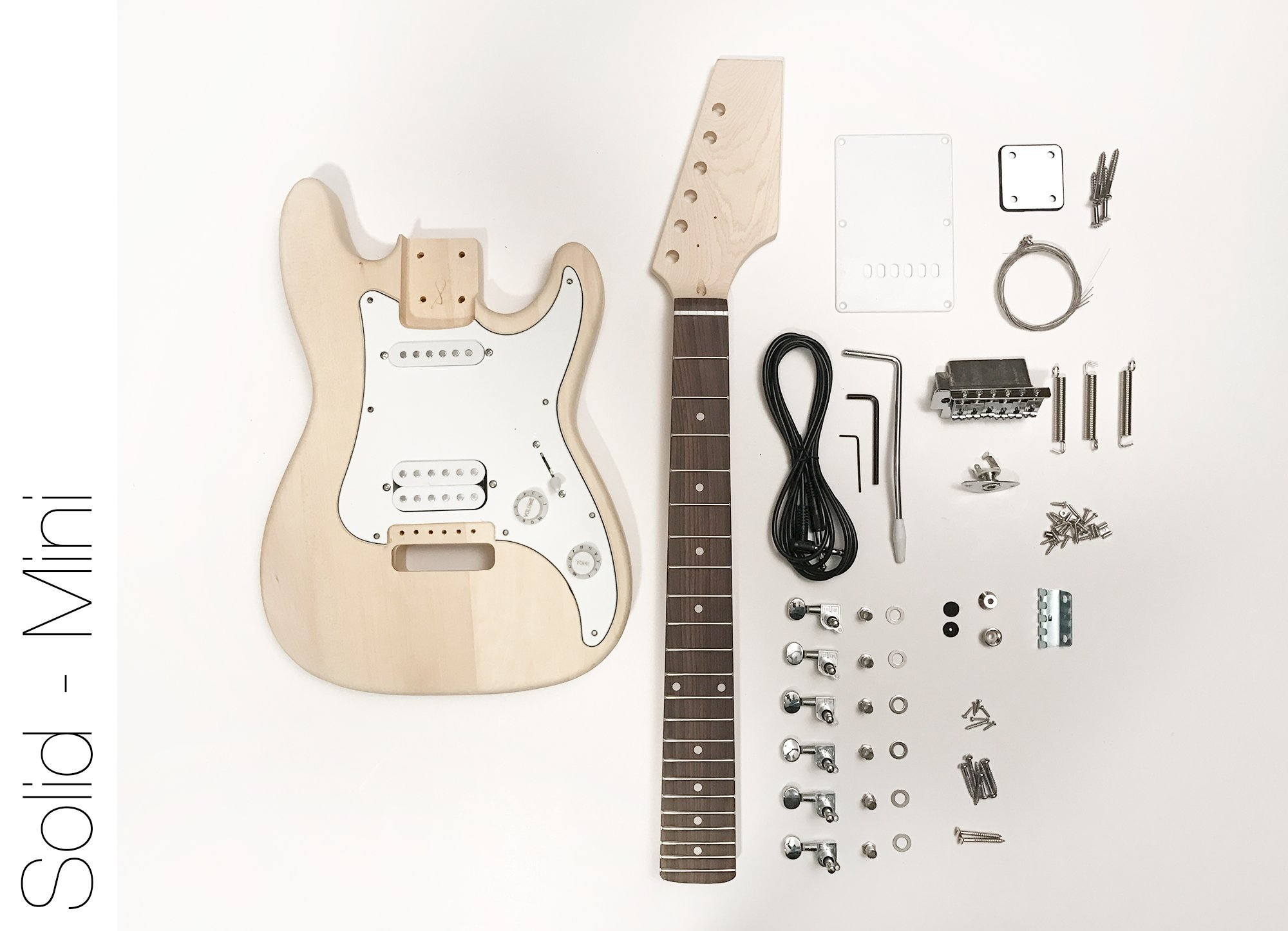 Cheap DIY Electric Guitar Kit - Mini ST Style Build Your Own Guitar Black Friday & Cyber Monday 2019