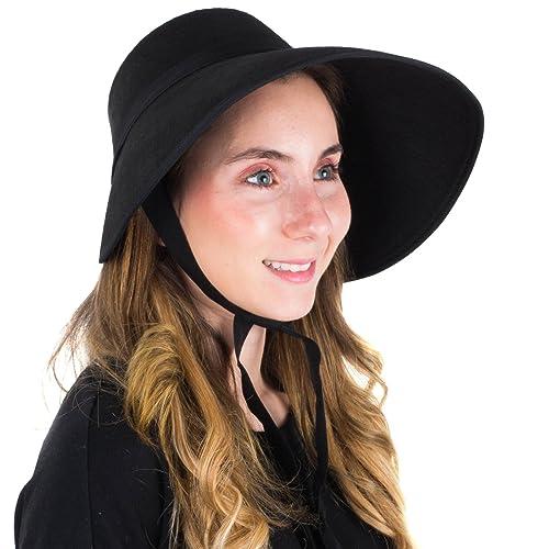 LADIES VICTORIAN BLACK MEDIEVAL MOP CAP COSTUME