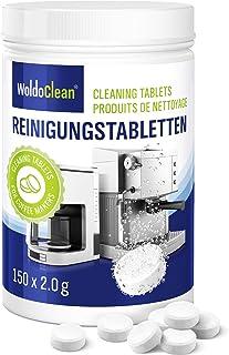 Pastilles de nettoyage pour machine à café - compatible avec Jura Delonghi Siemens Bosch Krups Melitta 150x tablette à 2 g...