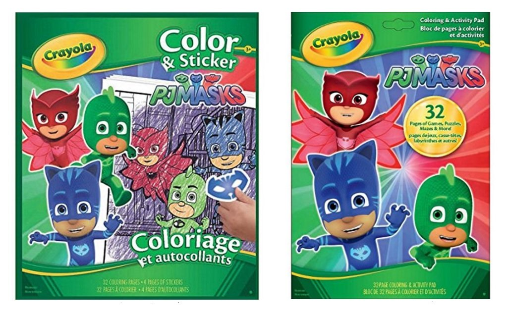 - Amazon.com: PJMASKS PJ Masks Coloring Sticker And Activity Fun Books Bundle  From Crayola: Toys & Games