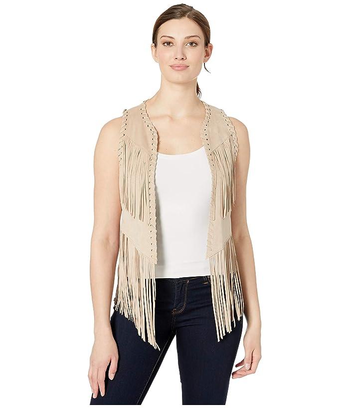 Women's 70s Shirts, Blouses, Hippie Tops Ariat Bluegrass Fringe Vest Almond Beige Womens Vest $52.46 AT vintagedancer.com