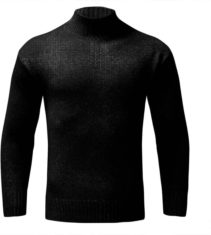 Direct sale of manufacturer DZQUY Men's Cashmere Save money Crewneck Sweater Fit Lightweigh Slim Casual