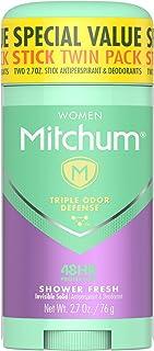 Mitchum Women Gel Antiperspirant Deodorant Twin Pack, Shower Fresh, 2.7oz.