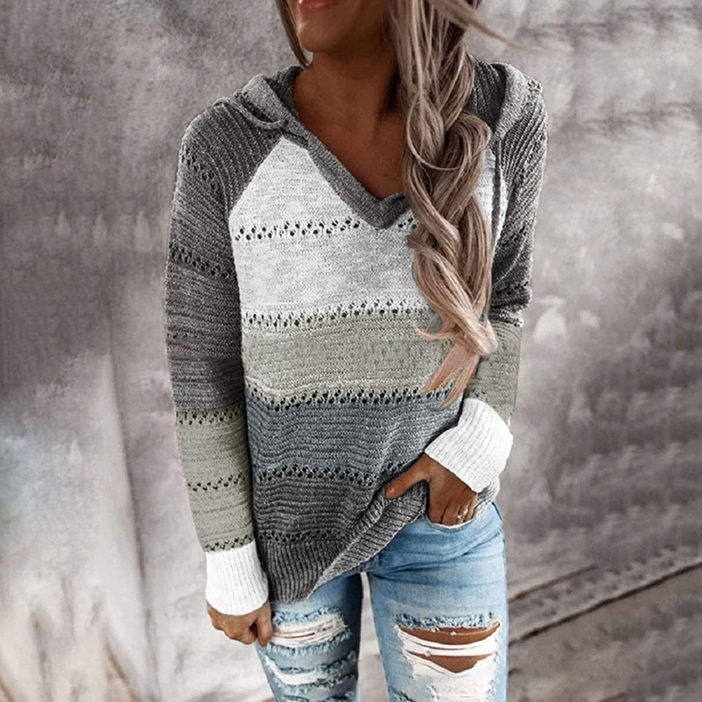 Women Sweatshirt Tunic,Sweatshirts for Women,Women Hoodie Long Sleeve Pullover Teen Girls Splice Crop Tops Solid Casual Jumper Blouse Shirts Grey