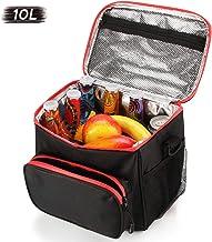 Bolsa térmica porta alimentos, plegable isotermica Bolsa de picnic /Bolsa almuerzo, para playa camping barbacoa trabajo colegio, 10L-negro