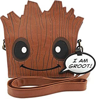 Loungefly Marvel Guardians of The Galaxy Groot Crossbody Bag Standard, Brown