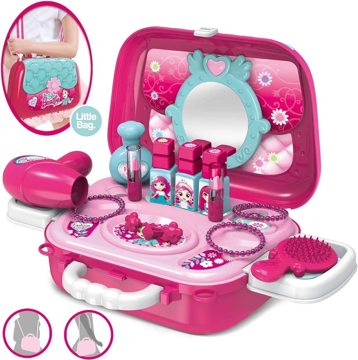 YIMORE Role Financial sales sale Play Jewelry Kit OFFicial mail order for Girls 2 Princess Set in Toy B 1