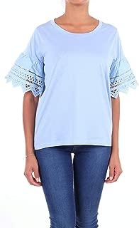 Seventy Luxury Fashion Womens MJ1255830135 Light Blue T-Shirt | Season Outlet