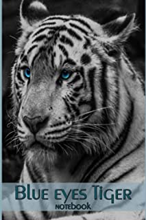 blue eyes tiger notebook: Perfect handwriting notebook journal for Tigers lovers. Cute Tigers Lover Gift For Girl, women....