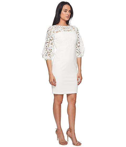 vestir Luxe Claire blanco Tech Ralph crema trigo Lauren de LAUREN crepé ZFq18cw