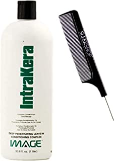 Image INTRAKERA Deep Penetrating LEAVE-IN CONDITIONING COMPLEX Conditioner (w/SLEEK COMB) (32 oz - LARGE LITER SIZE)