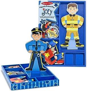 Joey - Magnetic Dress Up Wooden Doll & Stand + FREE Melissa & Doug Scratch Art Mini-Pad Bundle [35507]
