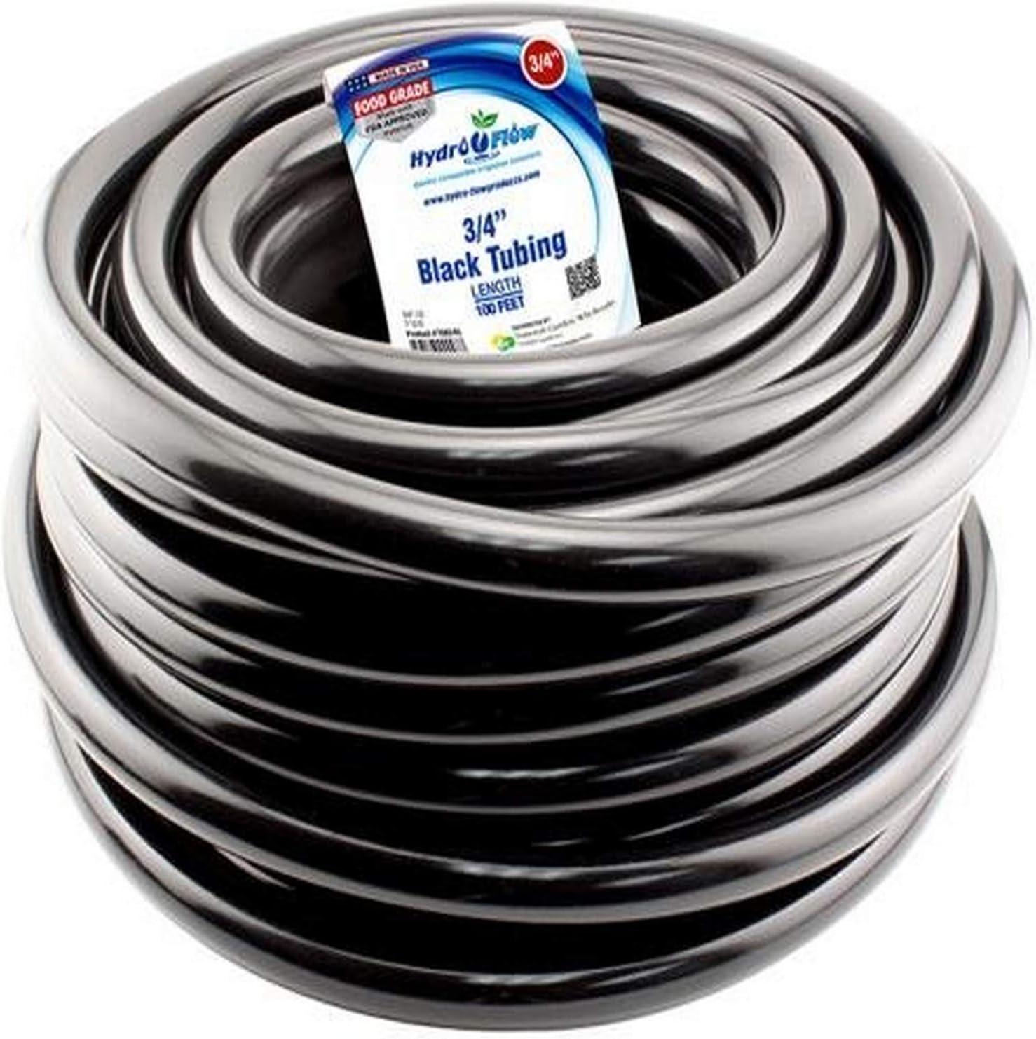 Hydro Flow 100 ft Roll Vinyl Tubing Black 3 OD 1