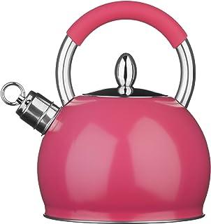 Premier Housewares Whistling Kettle, 2.4 Litre - Hot Pink