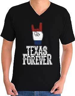 Awkward Styles Men's Texas Forever V-Neck T Shirt Tops Patriotic