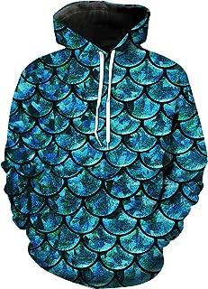 DJ Original Custom Hoodie-Fish Scales Design Pullover Hooded Sweatshirt