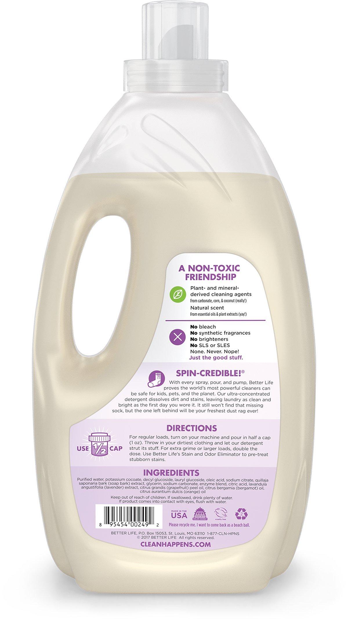 Better Life Natural Concentrated Laundry Detergent, Lavender Grapefruit, 64 loads
