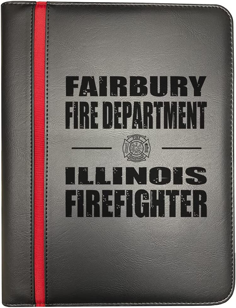 Fairbury Illinois Fire Departments Firefighter Line Fir Sales of SALE items from new works Red Thin depot