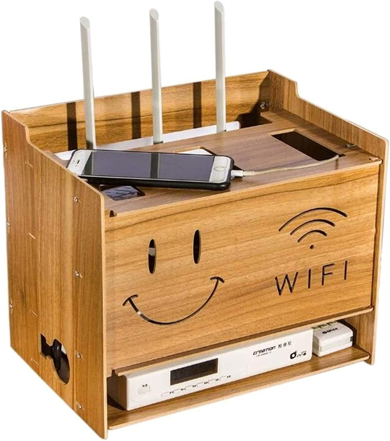 Weekly update Recommendation GJJSZ Router Rack Multi-Function Cable Manage Box Storage